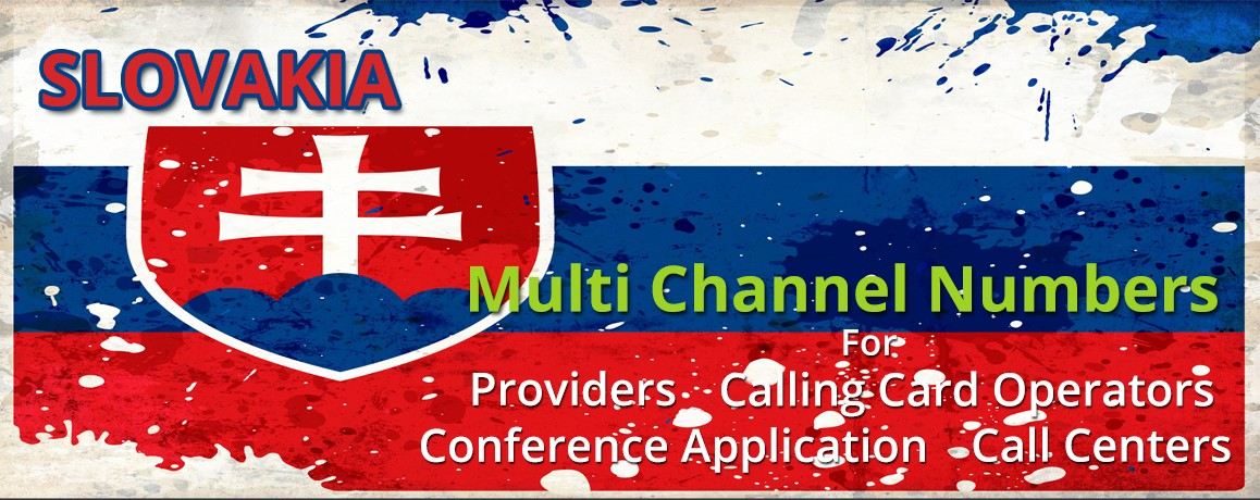 Slovakia Numbers with unlimited channels for Calling Cards &  Call Centers