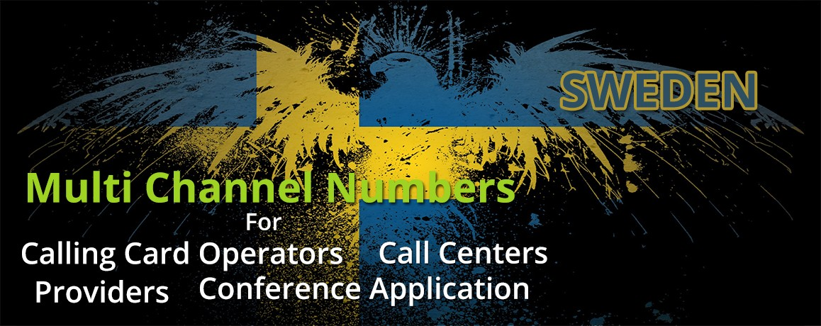 Sweden Numbers with unlimited channels for Calling Cards &  Call Centers