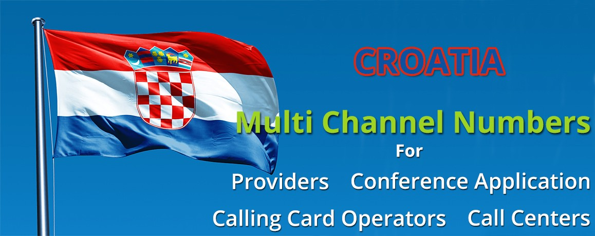 Croatia Numbers with unlimited channels for Calling Cards &  Call Centers