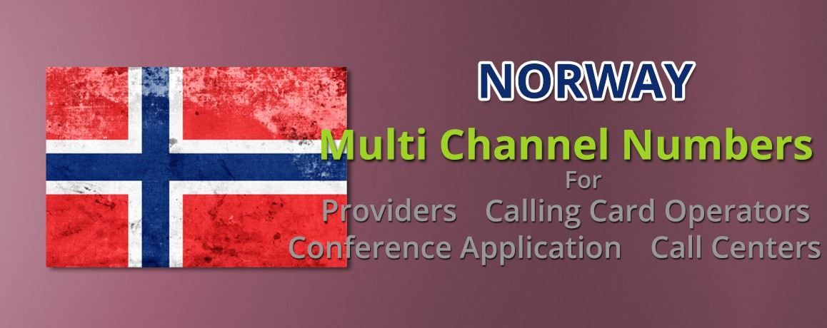 Norway Numbers with unlimited channels for Calling Cards &  Call Centers